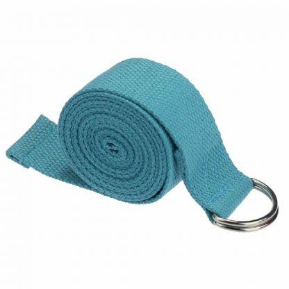 cinturón yoga azul