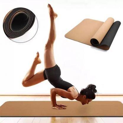 esterilla yoga corcho