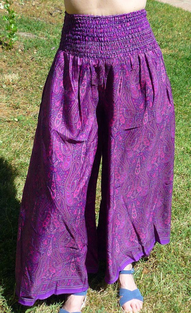 falda pantalón seda India