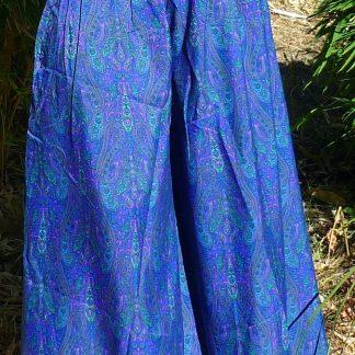 Falda pantalón de seda hecho en India estampado exclusivo