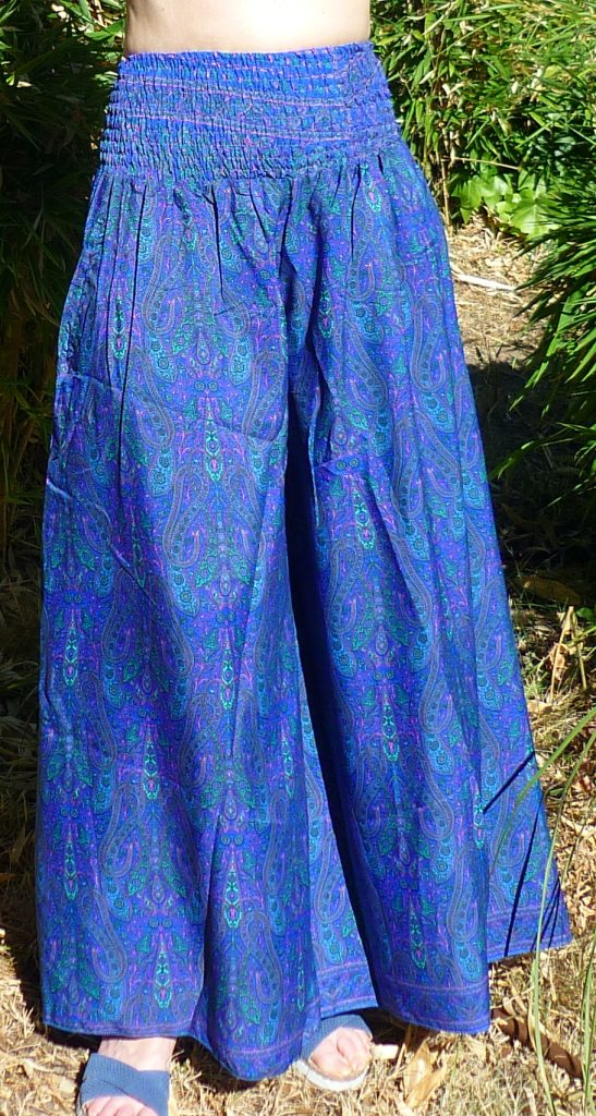 falda pantalon seda india