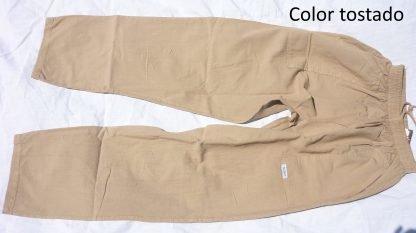Pantalón algodón tostado
